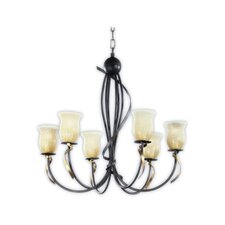Livorno Chandelier in Tobacco Gold