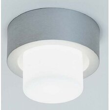 <strong>Zaneen Lighting</strong> Mini Rondo Flush Mount in Satin Aluminum