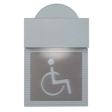 Mini Signal Handicap Wall Light in Metallic Gray