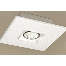 "Polifemo 7.75"" Flush Mount with White Glass"