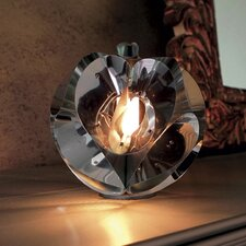 Floral Table Lamp in Chrome