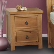 Curlew 2 Drawer Bedside Table