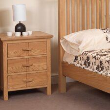 Wren 3 Drawer Bedside Table