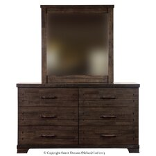 Mozart 6 Drawer Dresser and Mirror