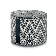 Kew Outdoor Cylindrical Pouf Ottoman