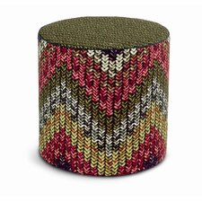 Nancho_Patchwork Cylindrical Pouf Ottoman