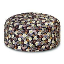 Golden Age B and W Orsay Pouf Bean Bag Ottoman