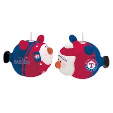 MLB Texas Rangers 12 Piece LED Portly Santa and Snowman Set