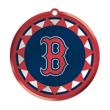 MLB Blown Glass Logo Disc Ornament