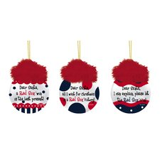 MLB Team Sayings Ornament (Set of 3)