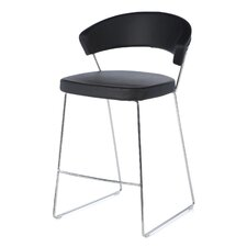 "New York 25.63"" Bar Stool with Cushion"