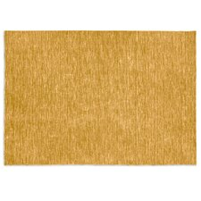 Very Flat Mustard Yellow Area Rug