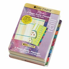 Flavia® Dated Two-Page-per-Day Organizer Refill