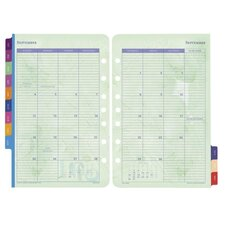 "Calendar Refills,Flavia,2PPM,Jan-Dec,8-1/2""x5-1/2"""