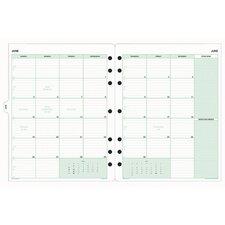 "Calendar Refill, Jan.-Dec., 2 PPM, Folio, 8-1/2""x11"""