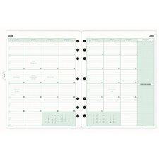 "Calendar Refill, Jan.-Dec., 2 PPM, Folio, 8-1/2""x11"", 2014"