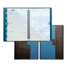 "Weekly Planner,Jan-Dec,2PPW,5-1/2""x8-1/2"" Pad,BN/BE Cvr, 2013"