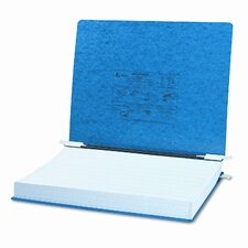 Pressboard Hanging Data Binder, 14-7/8 x 11 Unburst Sheets, Dark Blue