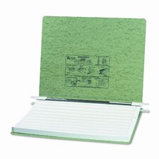 Pressboard Hanging Data Binder, 14-7/8 x 11 Unburst Sheets, Light Green