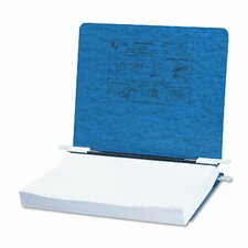 Pressboard Hanging Data Binder, 8-1/2 x 11 Unburst Sheets, Dark Blue