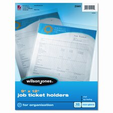 Wilson Jones Job Ticket Holder, 10/Pack