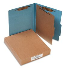 Pressboard 25-Pt. Classification Folders, Letter, Four-Section, 10/Box