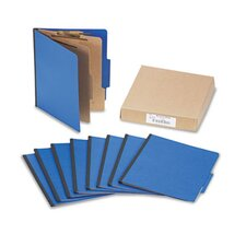 Presstex Colorlife Classification Folders, Letter, 6-Section, 10/Box