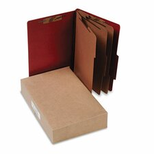 Pressboard 25-Pt. Classification Folder, Legal, 8 Section, 10/Box
