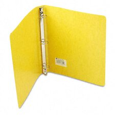 Recycled Presstex Round Ring Binder, 1in Capacity, Yellow