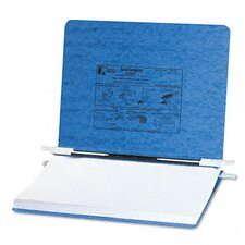 Pressboard Hanging Data Binder, 11-3/4 x 8-1/2, Light Blue
