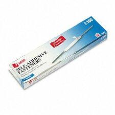"""Premium Self-Adhesive Paper File Fasteners, 2"""" Capacity, 100/Box"""
