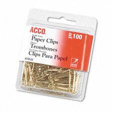 <strong>Acco Brands, Inc.</strong> Paper Clips, Wire, 100/Box