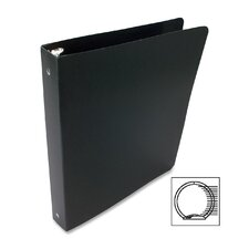 Recycled Presstex Round Ring Binder, 1in Capacity, Black