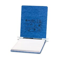 Pressboard Hanging Data Binder, 9-1/2 x 11 Unburst Sheets, Light Blue