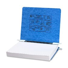 Pressboard Hanging Data Binder, 8-1/2 x 11 Unburst Sheets, Light Blue