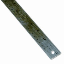 Westcott Stainless Steel office Ruler with Non Slip Cork Base, 12""