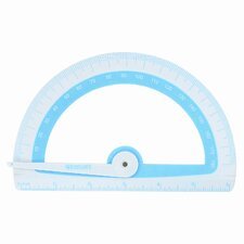 "Microban Soft Touch Antimicrobial Protractor, 6"", 180°, GN;BE;PK;OE, 1 EA"