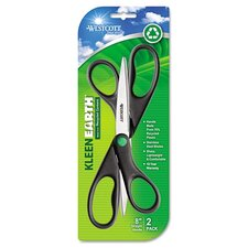 Westcott Kleenearth Recycled Scissors, 2/Pack