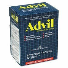 Advil Ibuprofen Tablets, 50 2-Packs/Box (Set of 2)