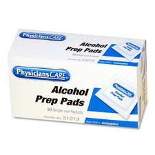 Physicianscare First Aid Alcohol Pads, Box of 50