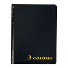 3 Column Cloth Cover Account Book (Set of 6)