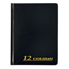 12 Column Cloth Cover Account Book (Set of 6)