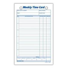 Index Bristol Weekly Time Card (Set of 3000)