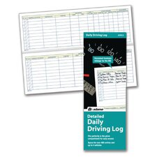 "9"" x 3.25"" Detailed Daily Driving Log (Set of 24)"