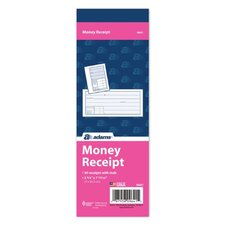 "2.75"" x 7.93"" 1 Part Money Receipt Book (Set of 60)"