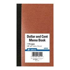 "7"" x 4"" Dollar and Cent Memo Book (Set of 48)"