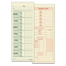 2 Sided Named Days Weekly Time Card (Set of 1600)