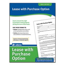 Lease with Purchase Option Forms and Instruction (Set of 288)