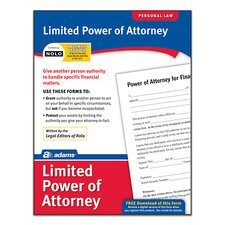 Limited Power of Attorney Forms and Instruction (Set of 288)