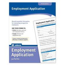 Application Forms and Instructions for Employment (Set of 144)